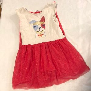 Adorable Wonder Woman puppy cape dress 3T